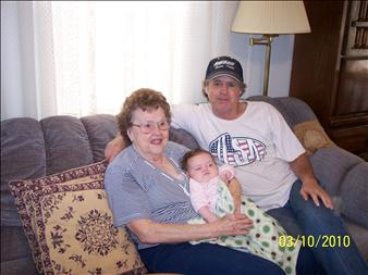 Roger,his mother Katherine, grandbaby Rebecca